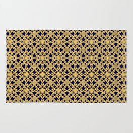Gold and Black Islamic Edition Geometric Pattern Rug