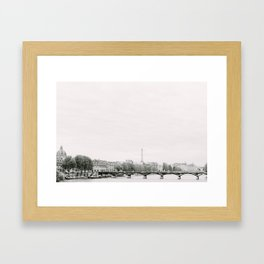 Paris Seine River Framed Art Print