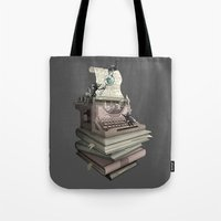 bookworm Tote Bags featuring Bookworm by BlancaJP
