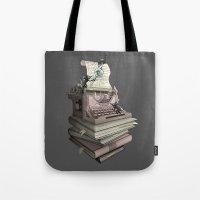 bookworm Tote Bags featuring Bookworm by BlancaJP - Jonna Piltti