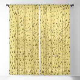 Trees in Yellow Sheer Curtain