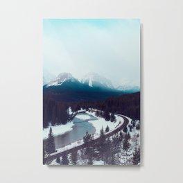 Canadian Rocky Mountains, Banff, Lake Louise, Winter Landscape Metal Print