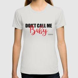 Don't Call Me Baby print T-shirt