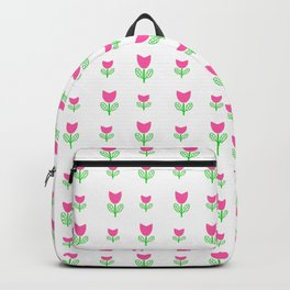 Little flower 6 pink and green Backpack