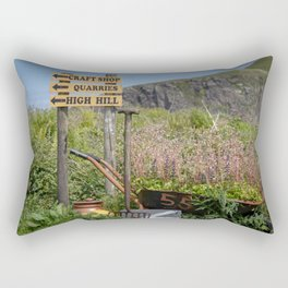 Easdale signs of life. Rectangular Pillow