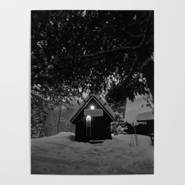 cozy cabin in the woods Poster