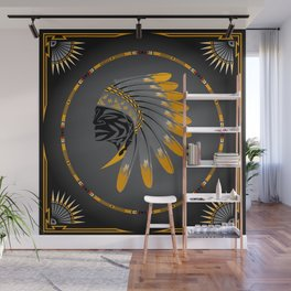 Honor and Strength Yellow Wall Mural