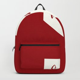 Nevada is Home - White on Red Backpack