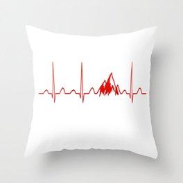 MOUNTAIN HEARTBEAT Throw Pillow
