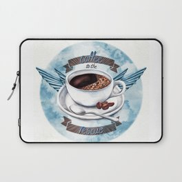Coffee To The Rescue Laptop Sleeve