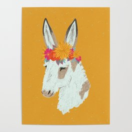 Penelope the Pinto Donkey Poster