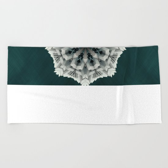 Winter Flakes Beach Towel