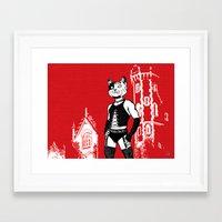 frank Framed Art Prints featuring Frank by Captain Feline