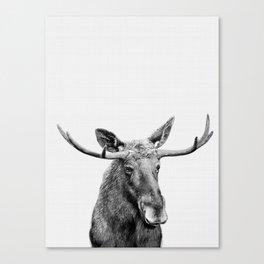 Moose print, Woodland nursery decor, nursery art, animal prints, Forest animals Canvas Print