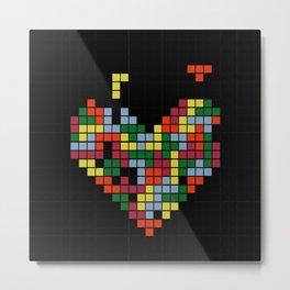 Tetris Love Metal Print