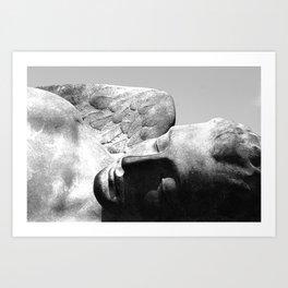 Angel statue Pompeii Italy Art Print