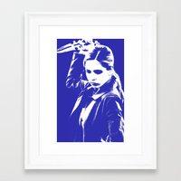 buffy the vampire slayer Framed Art Prints featuring Buffy the Vampire Slayer - Blue by Laura