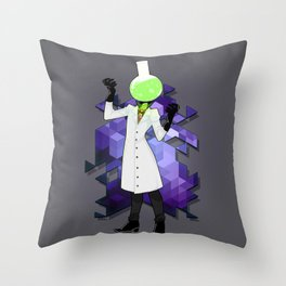 BRAINWAVES: THE SCIENCE OF MADNESS Throw Pillow