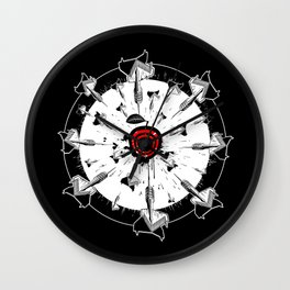Abstract installation on the theme of darts. Wall Clock