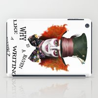mad hatter iPad Cases featuring The Mad Hatter by BeckiBoos