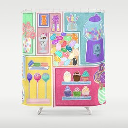 Sweets & Treats Shower Curtain