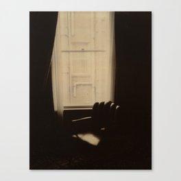 Chocolate Chair Polaroid Canvas Print