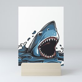 Shark Attack Mini Art Print