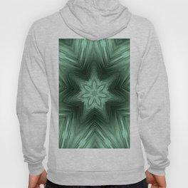 Green Star Flower Blossom Metallic Color #Pattern #Background Hoody
