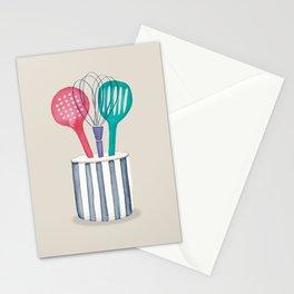 Utensils. Kitchen artwork Stationery Cards