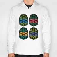 ninja turtles Hoodies featuring ninja shells by tama-durden