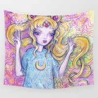 sailor moon Wall Tapestries featuring Sailor Moon by Brettisagirl