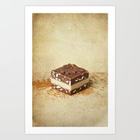 chocolate Art Prints featuring chocolate by lucyliu