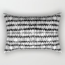 Abstract Wavy Black and White Pattern Rectangular Pillow