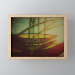 boats along the shore Framed Mini Art Print