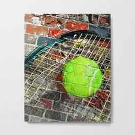 Tennis print work vs 3 Metal Print