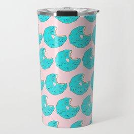 Teal Sprinkled Donut Travel Mug