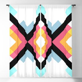 Abstract Retro Pattern 05 Blackout Curtain