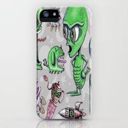 Little Green Men iPhone Case