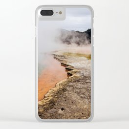 Thermal Wonderland- Artists Pallet Clear iPhone Case