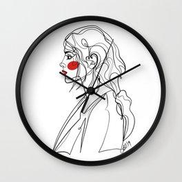 Single Line Portrait Wall Clock