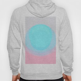 Pearl Lily Abstract Pastel Pink Blue Gray Hoody