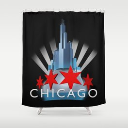The Windy City Shower Curtain