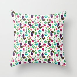 Stylized Trees Throw Pillow