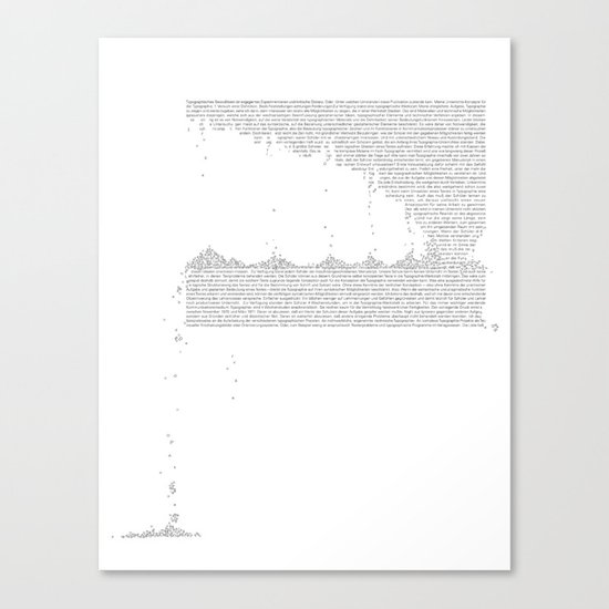 Erosion & Typography 3 Canvas Print