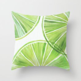 Fresh Lime ~ Summer Citrus Throw Pillow