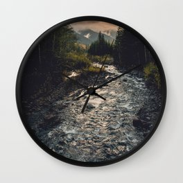 The Sandy River II Wall Clock