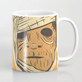 Retro Creepy Halloween Mummy Mask Face Coffee Mug