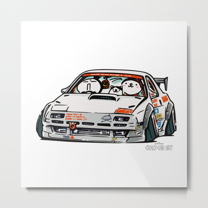 Crazy Car Art 0143 Metal Print