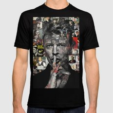 David Bowie Black SMALL Mens Fitted Tee