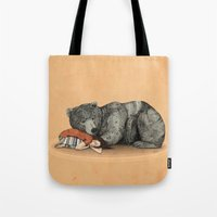 power Tote Bags featuring Huntress by Sandra Dieckmann